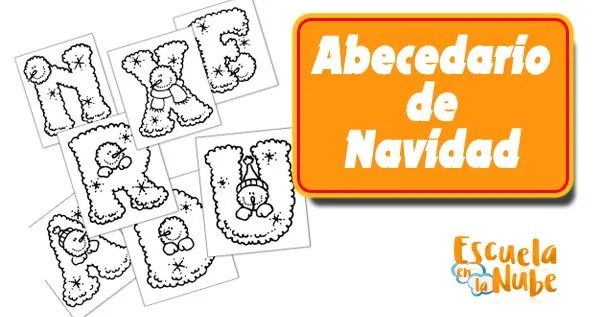 abecedario de navidad, letras de navidad para imprimir