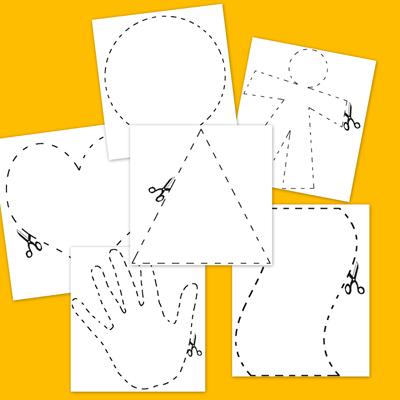 psocomotricidad fina, colorear y recortar, dibujos para colorear, fichas infantil