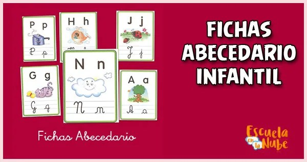 fichas del abecedario,letras del abecedario