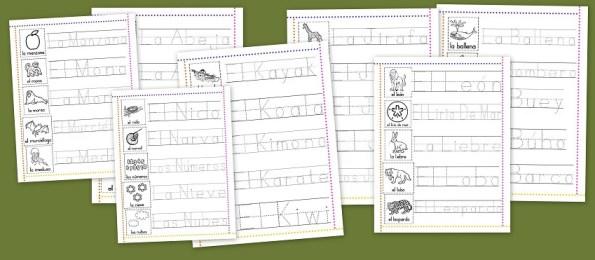 Os dejamos estas fantásticas fichas para trabajar la lectoescritura con las letras del Abecedario. Lo dividimos en dos partes, esta tarde pondremos nuevas fichas de lectoescritura con las letras.
