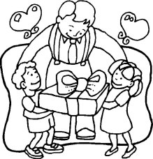 Dibujos para colorear en el dia del padre