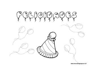 Dibujos para colorear: Fiestas de cumpleaños