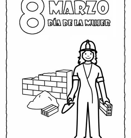Mujer Trabajadora Dibujo Para Colorear