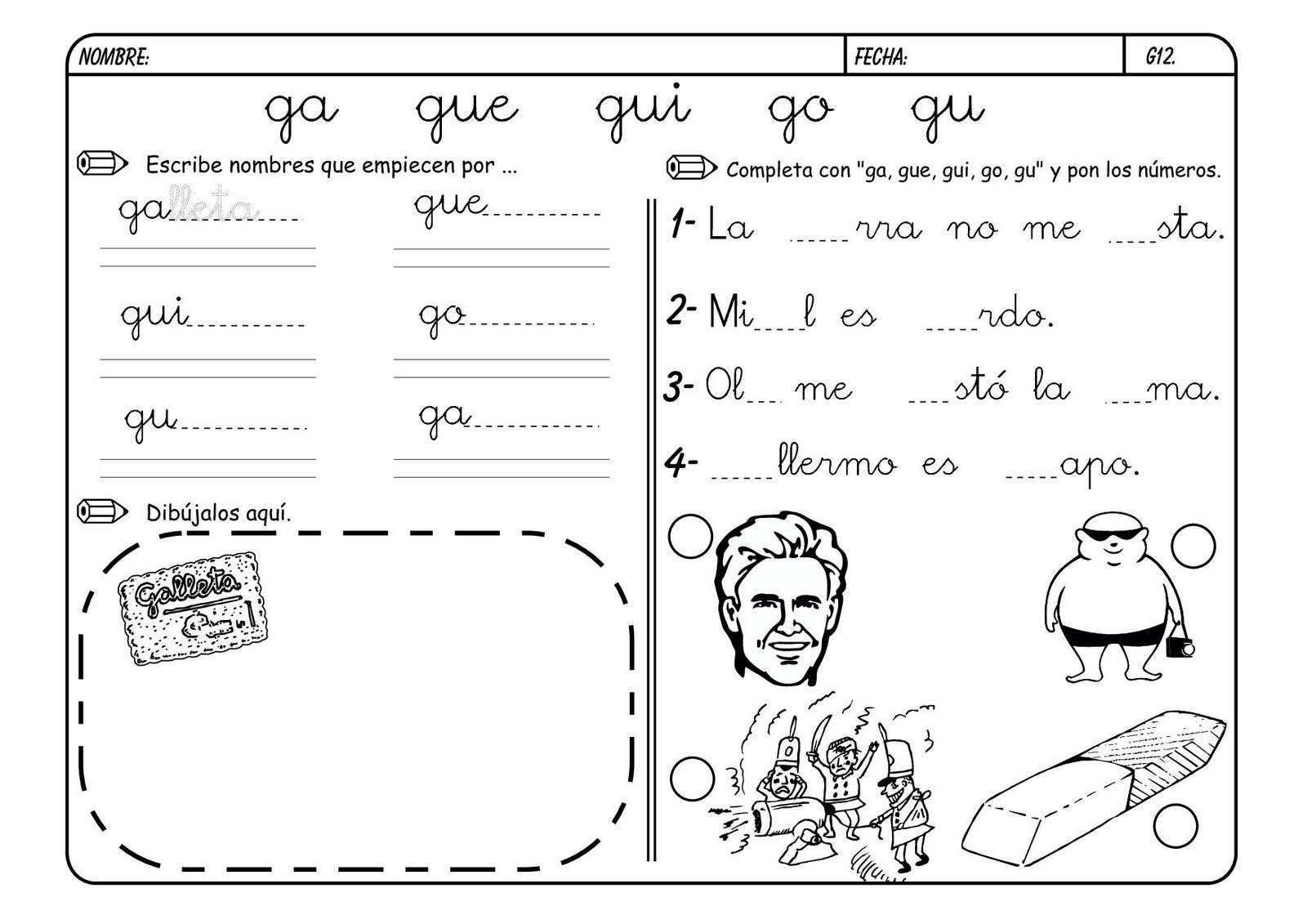 Recursos Para El Aula Lectoescritura Con La G