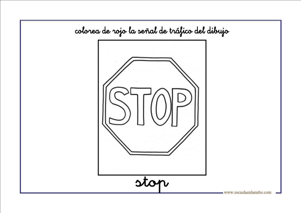 Dibujo De Stop Para Colorear Dibujo De Stop Para Imprimir