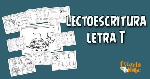 lectoescritura letra T