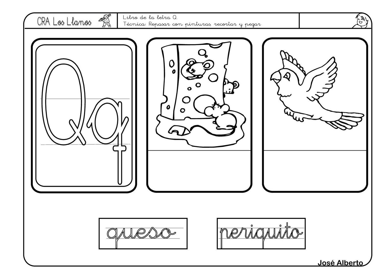 Lectoescritura Y Vocabulario Con La Letra Q
