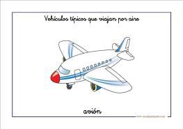 Fichas infantil: transportes aéreos