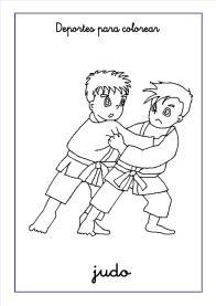 judo para colorear