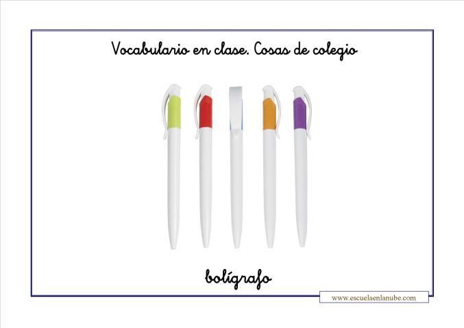 Vocabulario colegio boligrafo