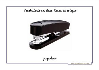 Vocabulario colegio grapadora