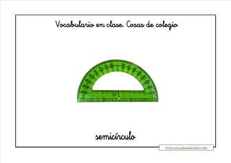 Vocabulario colegio semicirculo