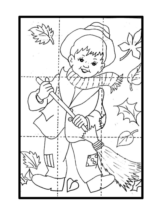 dibujos colorear otoño 26