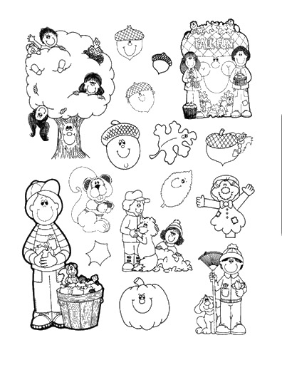 dibujos colorear otoño 29