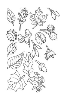 dibujos colorear otoño 33