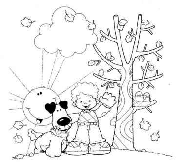 dibujos colorear otoño 41