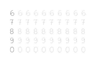 grafomotricidad con numeros 02
