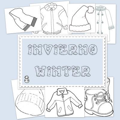 El invierno dibujos para colorear - Proyecto el invierno ...