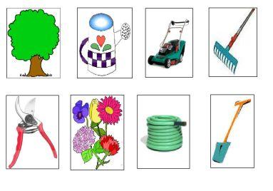objetos del jardin