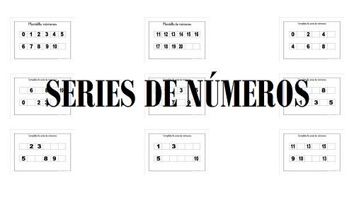 series, números, matemáticas, primaria