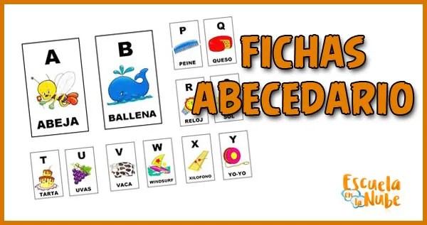 fichas abecedario, aprender el abeceadrio