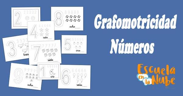 Grafomotricidad con los números