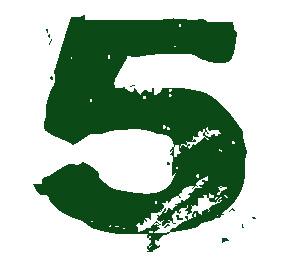 números, matemáticas, los números, el número cinco