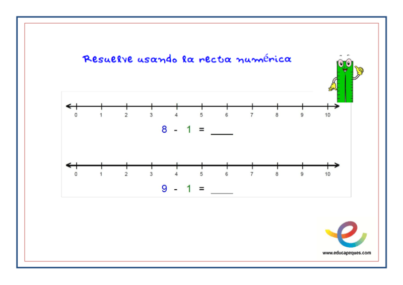 fichas recta numérica 4