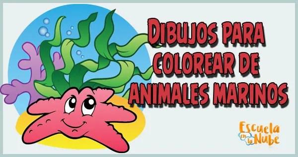 Dibujos para colorear de animales marinos