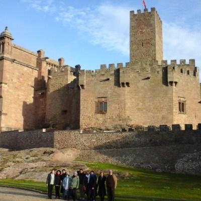 Alumnos en Javier, castillo