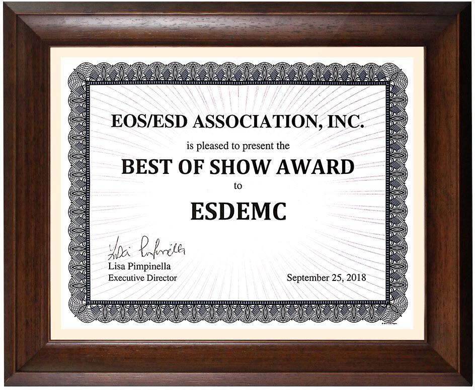ESDEMC参加了2018年EOS / ESD研讨会 并获得最佳展商荣誉