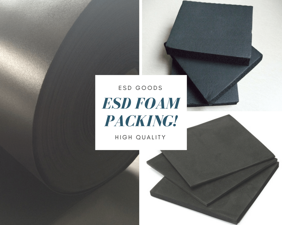 Black anti static ESD safe foam