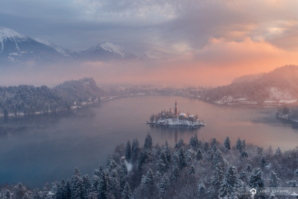 Best photo location at Lake Bled