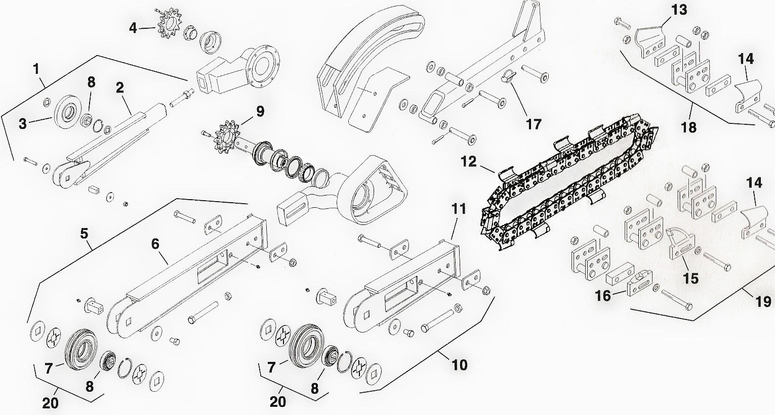 Toro Dingo Trencher Attachment Parts Toro Trench Filler