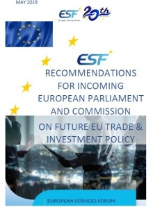 ESF Recommendations for incoming European Parliament and Commission related to the future EU Trade Policy