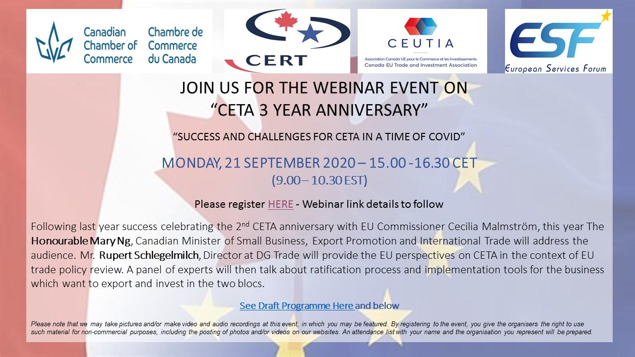 Webinar - CETA - Event