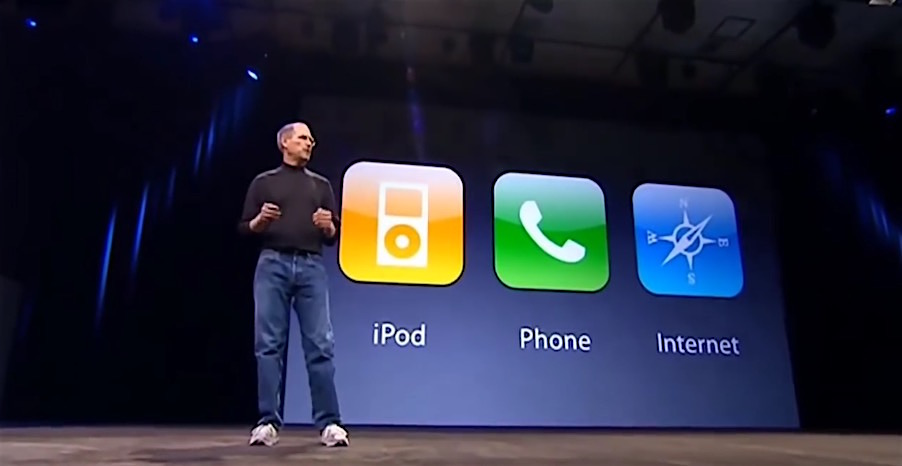 3 en uno - iPhone - Keynote - Steve Jobs