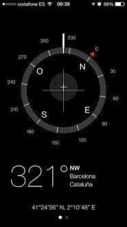 Brujula iOS 7 1