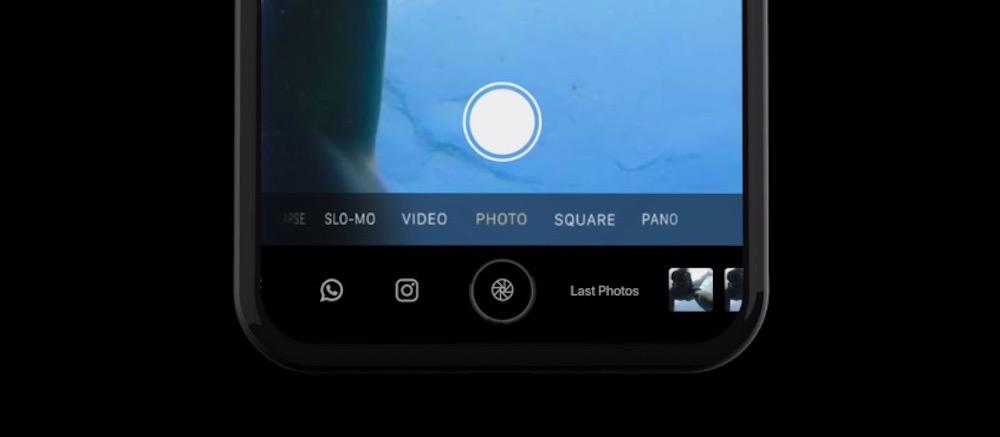 Concepto de iPhone 8 con Touch Bar