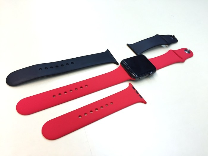Correa roja Apple Watch