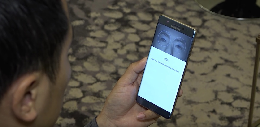 Galaxy Note7 Iris Scanner