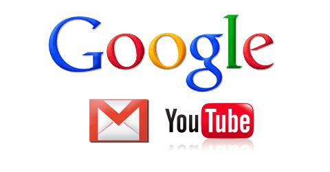 Google Gmail youTube