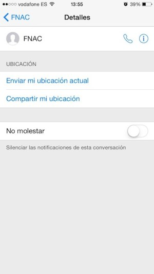 No molestar ios8 4