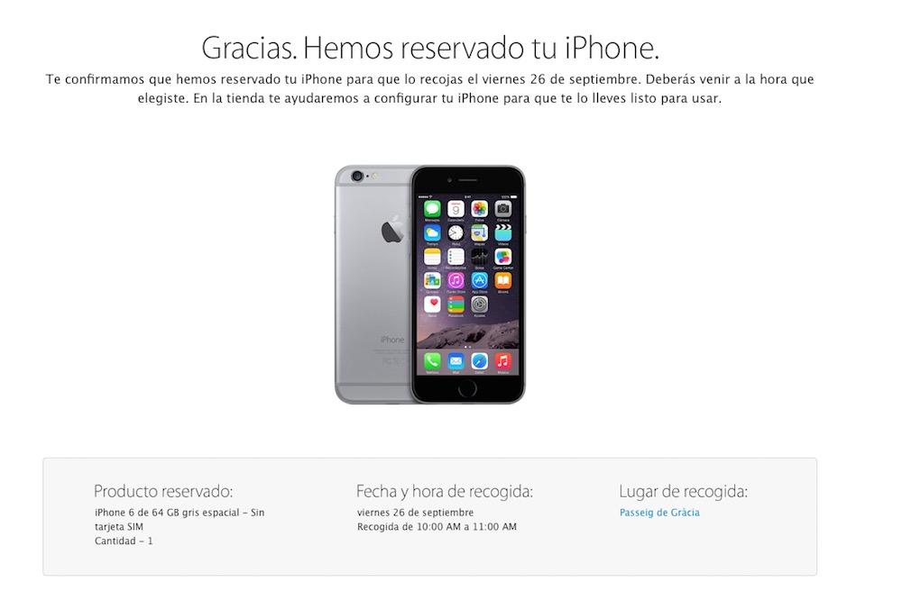 Reservar iPhone 6
