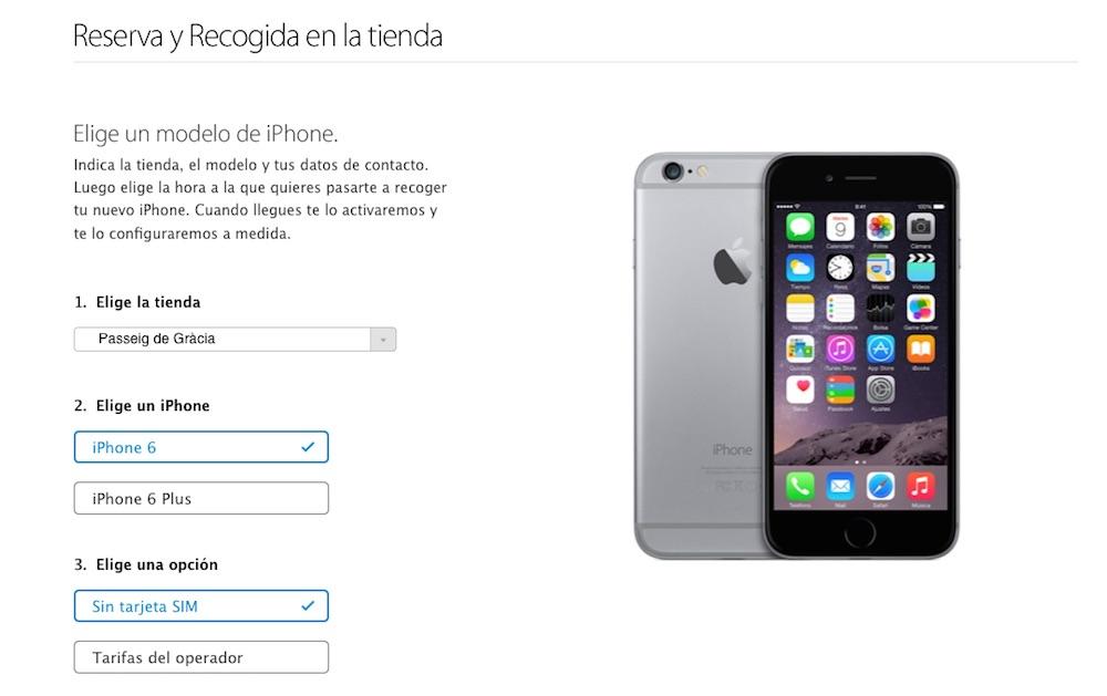 Reservar iPhone 6 2
