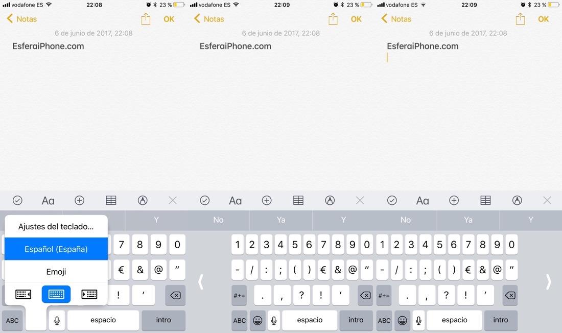 Teclados iOS 11