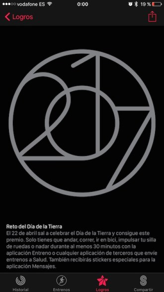 Día de la Tierra - Insignia Apple Watch