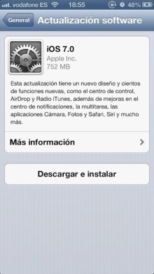 iOS 7 ya disponible