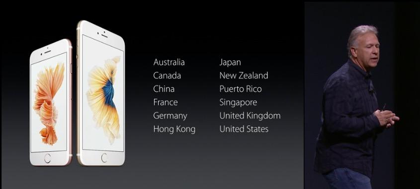 iPhone 6s paises