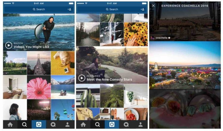 explorar videos en Instagram